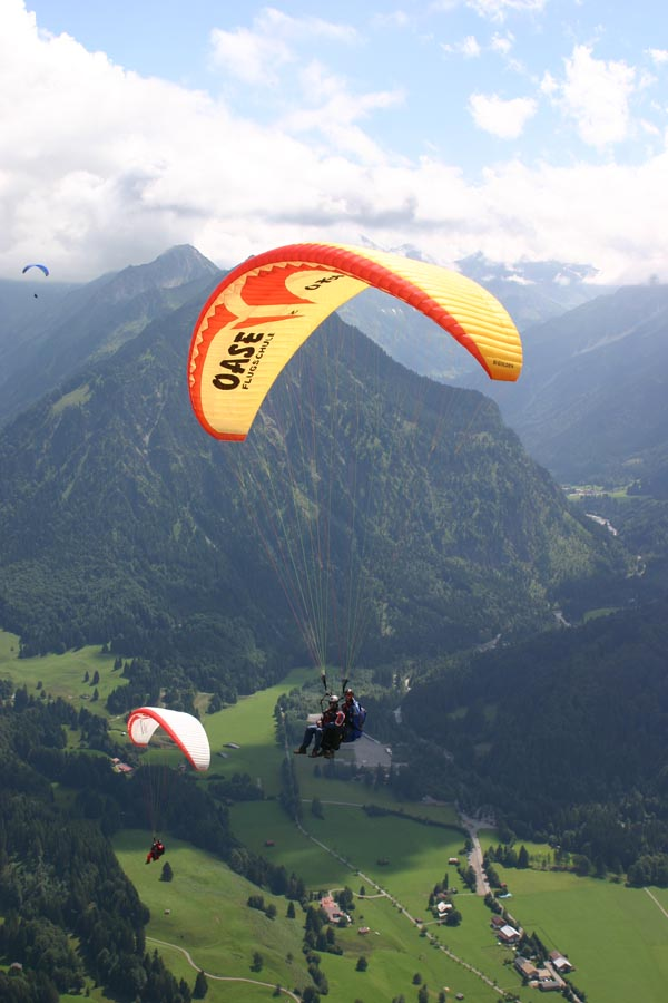 Gleitschirm Tandemflug in Oberstdorf im Allgäu